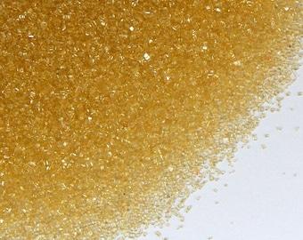 Gold Sanding Sugar (2 ounces) Gold Fine Sanding Sugar, Christmas Cookie Sprinkles, New Year's Eve Sanding Sugar - Small Bag