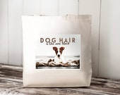 DOG HAIR is the new black -- Jack Russell Terrier - Carryall Tote - School Bag - Canvas Bag