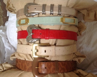 Escada Belts ~ Gorgeous Collection Of Designer Belts ~ Vintage Ladies Belts ~ Made In Italy ~ Fine Clothing Acessories ~ Fine Leather Belts
