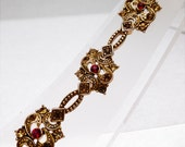 Amber and Champagne Tones Victorian Revival Bracelet