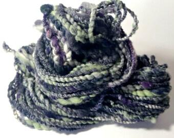 Handspun Yarn Hand Dyed Hand Blended Yarn - April - 2 ply art yarn merino corriedale firestar