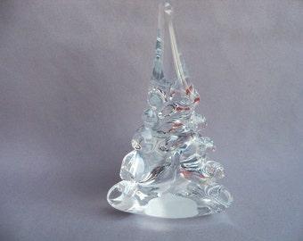 Hand Blown Art Glass  Christmas Tree- Small