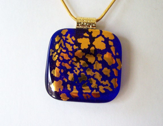 Dichroic Jewelry - Fused Glass Jewelry - Dichroic Jewelry - Fused Dichroic Glass - Golden Showers,