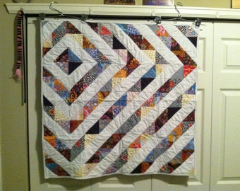 Exploding Diamond Lap or Crib Quilt