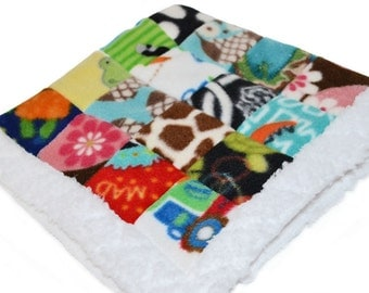Baby Blanket, spying game blanket, fleece blanket, security blanket, lovey blanket, baby gift