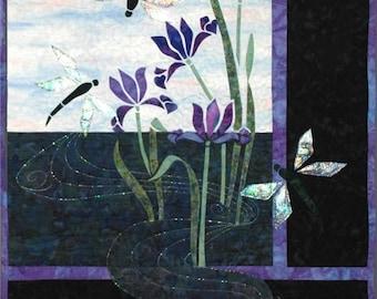 Storyquilts Dragonflies & Iris Applique Quilt Pattern