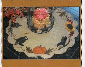 Autumn Fall Table Mat Tablemat Wool Pattern Primitive Gatherings