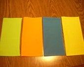 Cotton napkins-summer colors, eco-friendly-multiple quantities available