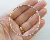 BULK 3 Silver plated bracelet bangle 19cm