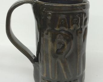 Arizona License Plate Mug, Large, Olive Green