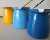 Three Enamelware Sauce Ladles