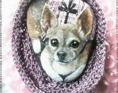 Custom order for Carol,Pet Portrait Dog on a Stone,  5-6 in.- Painted Rocks by Shelli Bowler