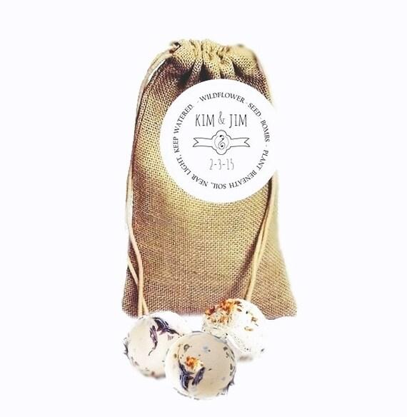 Flower Seed Wedding Favours: Burlap Wedding Favors 25 Wildflower Seed By