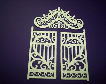 Ornate Garden Gate Die Cuts Set of 6