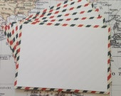 Set of (6) Airmail Notecards