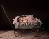 Newborn baby bonnet and pants set Newborn Size , Photography Prop