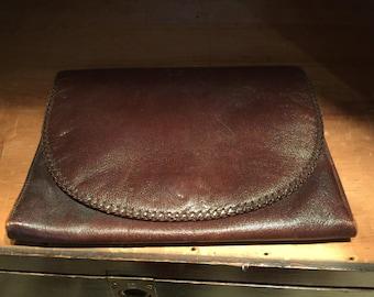 Vintage Chocolate Brown Clutch Bag