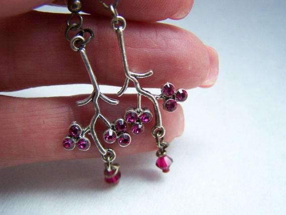 Swarovski Hot Pink Crystal Chandelier Earrings Doodaba