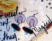 Dangle Owl Earrings/ The Light Owl