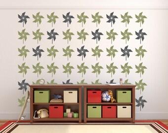 Pinwheel Decorations, Childrens Wall Decals, Playroom Wall Decal, Kids Playroom, Summer Decals, Party Decorations, Nursery Wall Decor