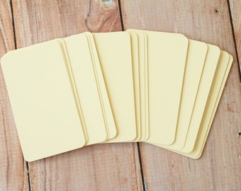 50pc Elegant LINEN Rich Cream Lakeland Series Business Card Blanks