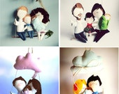 Personalized Family Dolls for a BABY NEW ARRIVAL made to order -