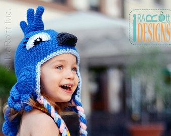 PATTERN Blues the Parrot Hat Crochet PDF Pattern with Instant Download