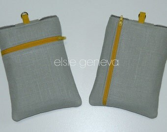 Add a Back Zipper Pocket to Any Tablet eReader iPad or Laptop Case in My Shop Choose Horizontal or Vertical
