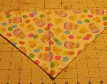 Dog Bandana, Easter, neckerchief, spring, chicks, egg, colored eggs, yellow