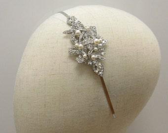 Bridal headband,Crystal and pearl Wedding hair accessories,Bridal hair piece,Wedding headband,Wedding hair jewelry,Bridal hair accessories
