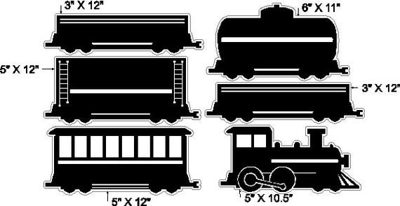 Peel And Stick Train Set Stickers Removable Train Wall Decals