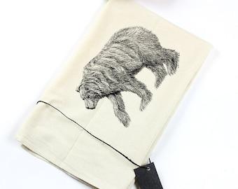 Eco-Friendly Flour Sack Tea Towel With Grizzly Bear Print - Housewares - Eco-Friendly