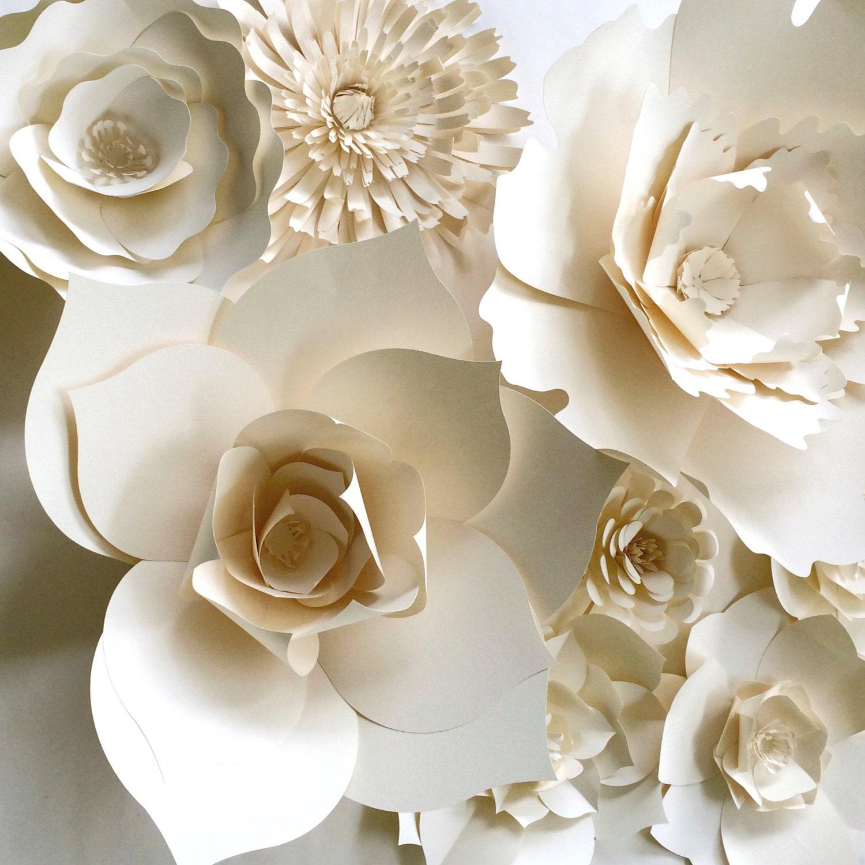 paper flower wall decor large paper flower paper flower. Black Bedroom Furniture Sets. Home Design Ideas