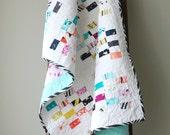Modern Baby Quilt, Toddler Quilt, Crib Quilt, Baby Girl Quilt, Modern Checkerboard