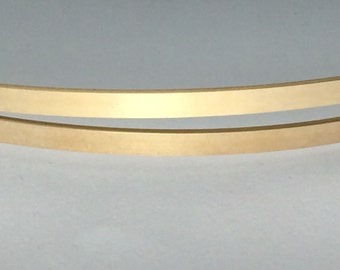 1 FOOT, 14kt gold fill flat stock, wire supplies, commercial, rectangle, great for rings and cuffs, id bars, choose size,