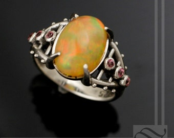 Bold Colors - Ethiopian Opal Steampunk Ring