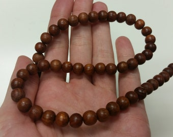 8mm Round Bayong Wood Beads