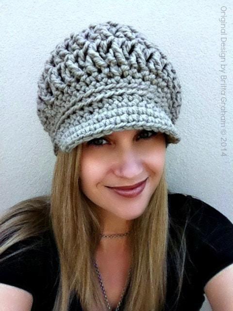 Crochet Hat Pattern For Chunky Yarn : Chunksta Newsboy Pattern for super chunky aka bulky yarn