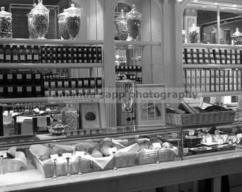 Angelina's Paris France black and white photograph
