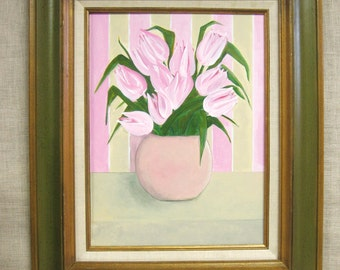 Tulip Painting , Flowers , White Tulips , Art , Fine Art , Original , Framed Painting , Wil Shepherd , Floral , Holland , Spring Time