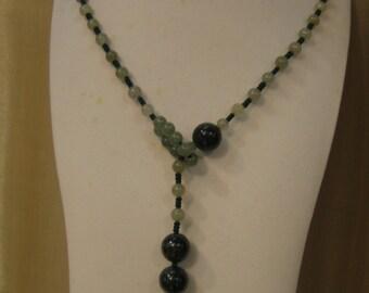 Stylish Natural Jade Necklace ... Handknotting Jewelry