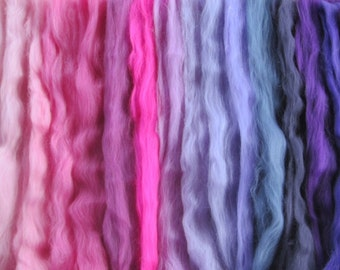 ALL the PINKS and PURPLES 18 Shades Ashland Bay Merino 4.5 Oz of Colors!