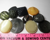 """11 Huge Plastic, Celluloid,  Buttons 1-1/4 to 2""""  --- Great for jewelry, earrings, bracelet,collection, purse Closure or craft."""