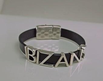 Ibizans Leather Bracelet Snap Closure Choice of Color