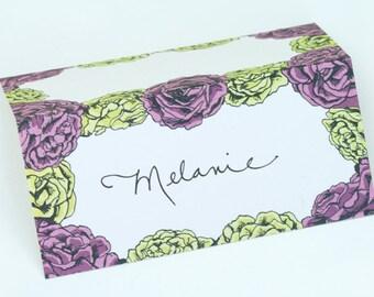 SALE - Floral Place Cards 8pk - Roses