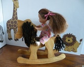 """Dollhouse 5 """" Barbie Play Scale Rocking Horse"""