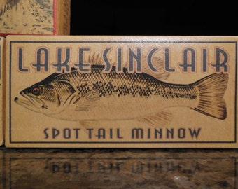 lake house decor Lake Sinclair Georgia cabin fishing lure boxes 4YourLake