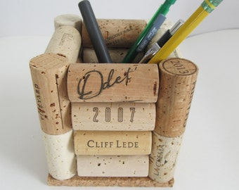 Wine Cork Pen Pencil Holder - Desk Accessory, Office Decor, Storage, Organization, Back To School