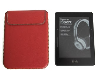 Amazon Kindle Voyage Handmade Genuine Leather Sleeve Case (Top Closing)