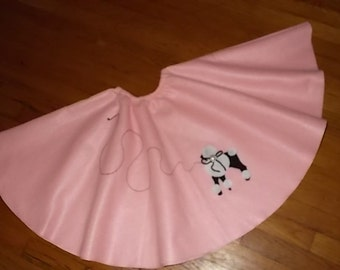 Girls Poodle Skirt 5/6....Ready to Ship.....4th Of July Party....Full Circle..... 50s Rock N Roll Sock Hop.....Father Daughter Dance